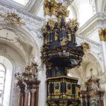 Die Kanzel im Alten Dom in Linz