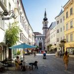 Die Linzer Altstadt mit Blick auf das Landhaus