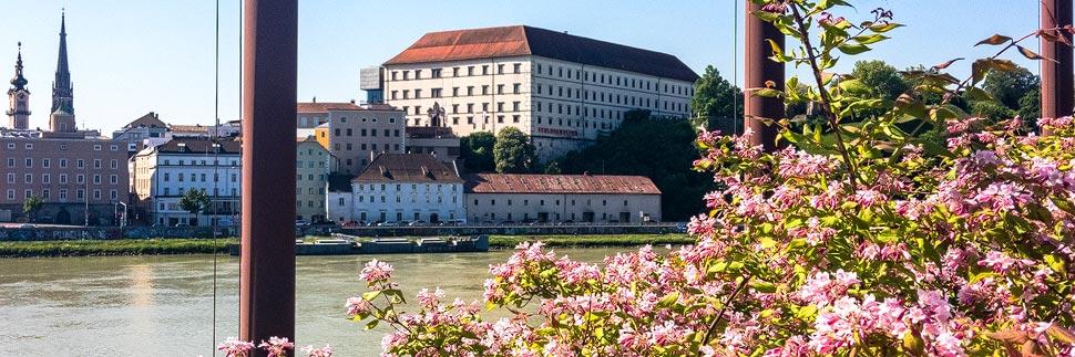 Blick auf das Linzer Schlossmuseum