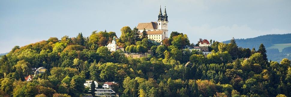 Blick auf den Linzer Pöstlingberg