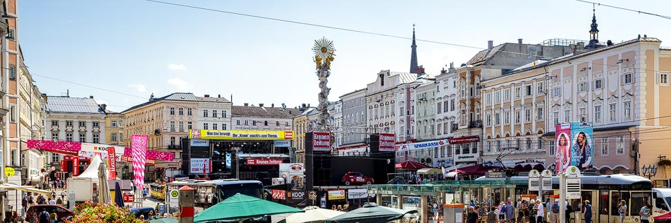 Linzer Hauptplatz während des Stadtfestes