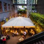 Gastgarten des Restaurant Gelbes Krokodil in Linz