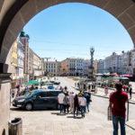 Blick auf den Hauptplatz von Linz