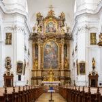 Innenansicht der Karmelitenkirche in Linz