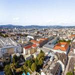 Aussicht vom Turm des Mariendoms in Linz