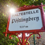 Haltestellenschild der Pöstlingbergbahn