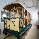 Historische Garnitur im Pöstlingbergbahn-Museum in Linz-Urfahr