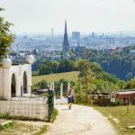 Blick auf Linz vom Tiergarten aus