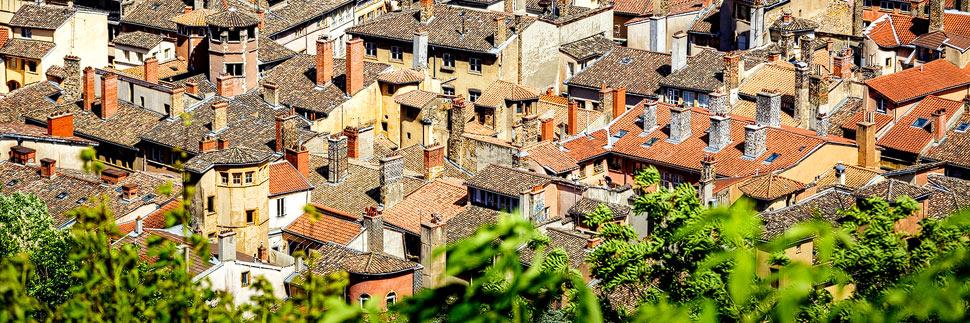 Hausdächer in der Altstadt Vieux-lYon
