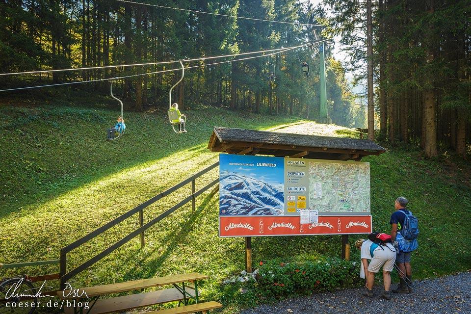 Talstation der Bergbahnen Lilienfeld auf den Muckenkogel in Lilienfeld