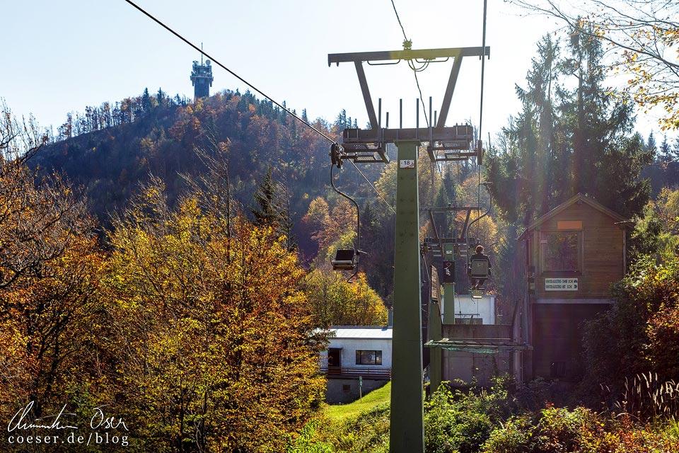 Bergstation des Sessellifts auf den Muckenkogel in Lilienfeld
