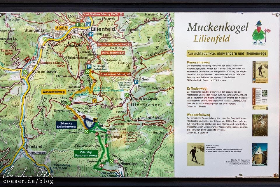 Wanderwege auf dem Muckenkogel in Lilienfeld