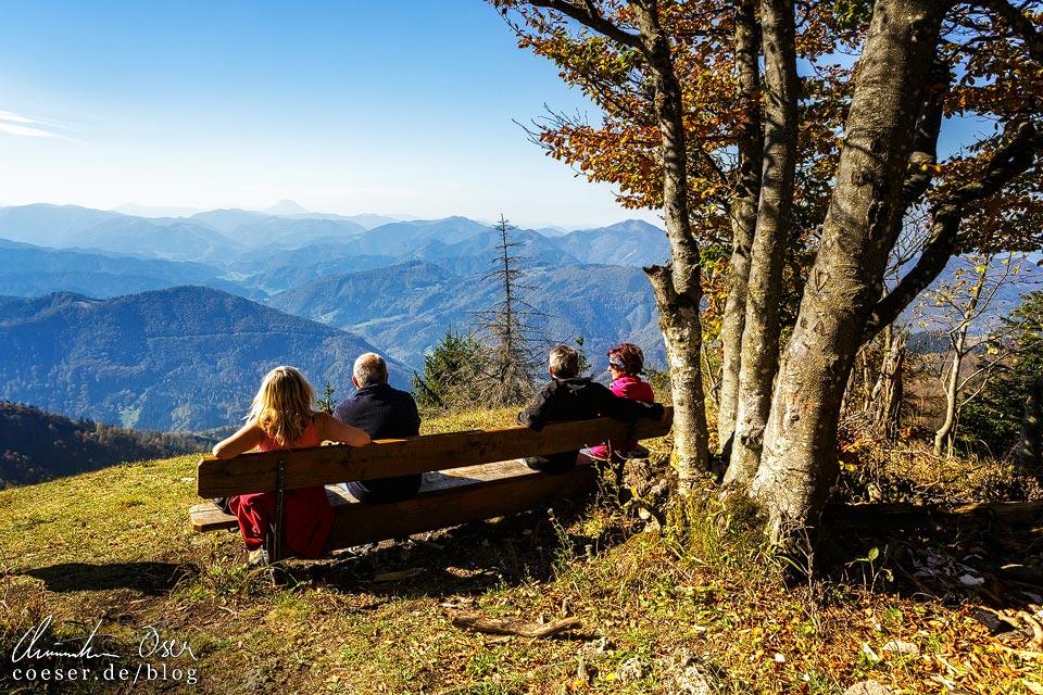 Aussichtspunkt und Torlaufstrecke von Mathias Zdarsky auf dem Muckenkogel (Lilienfeld)