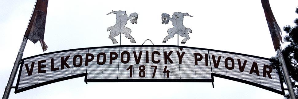 Eingangsportal zur Brauerei Velké Popovice