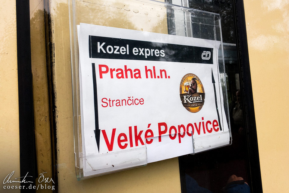 Sonderzug Kozel Expres zur Brauerei Velké Popovice