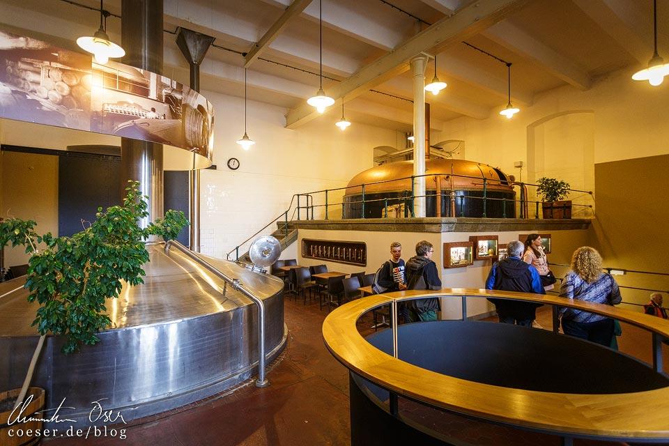 Historisches Sudhaus während einer Führung in der Brauerei Velké Popovice (Kozel-Bier)