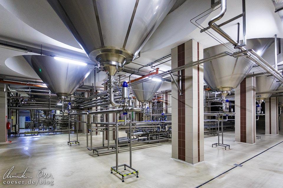 Führung in der Brauerei Velké Popovice (Kozel-Bier)