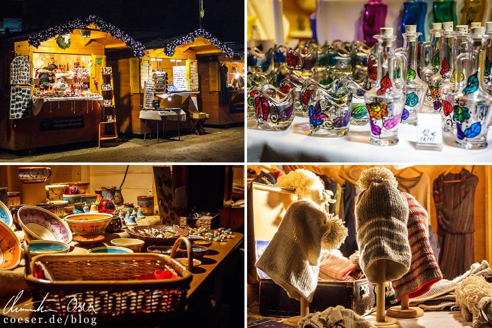 Kunsthandwerk auf dem Weihnachtsmarkt in Bled