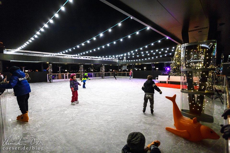 Eislaufplatz vor dem Hotel Park in Bled