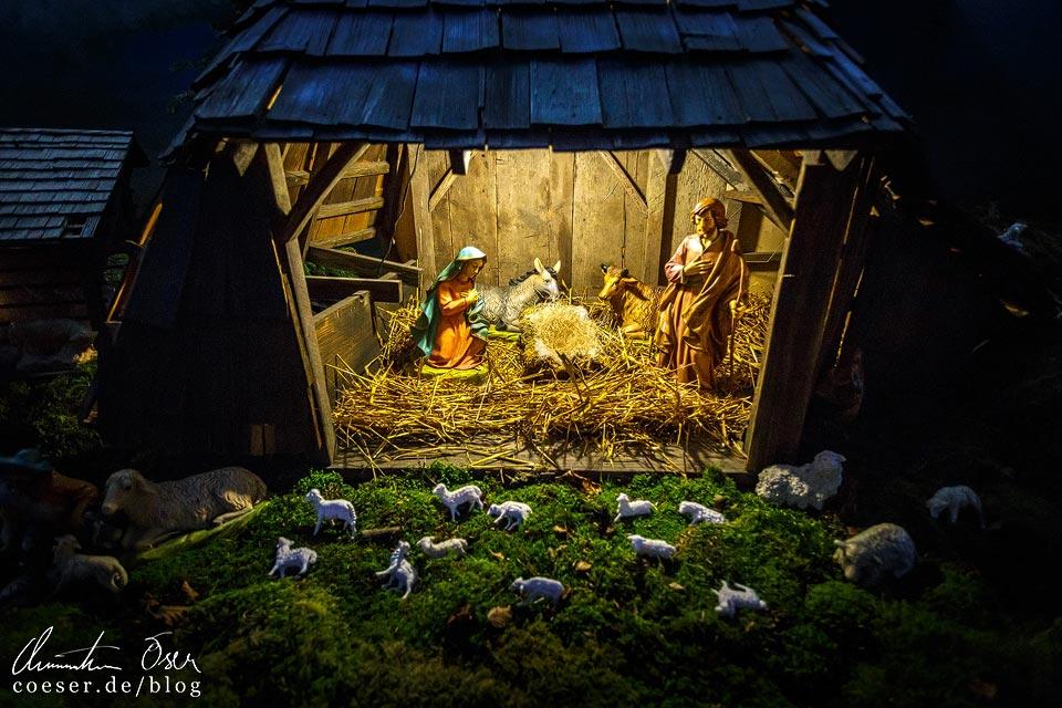 Krippe auf dem Weihnachtsmarkt in Bled