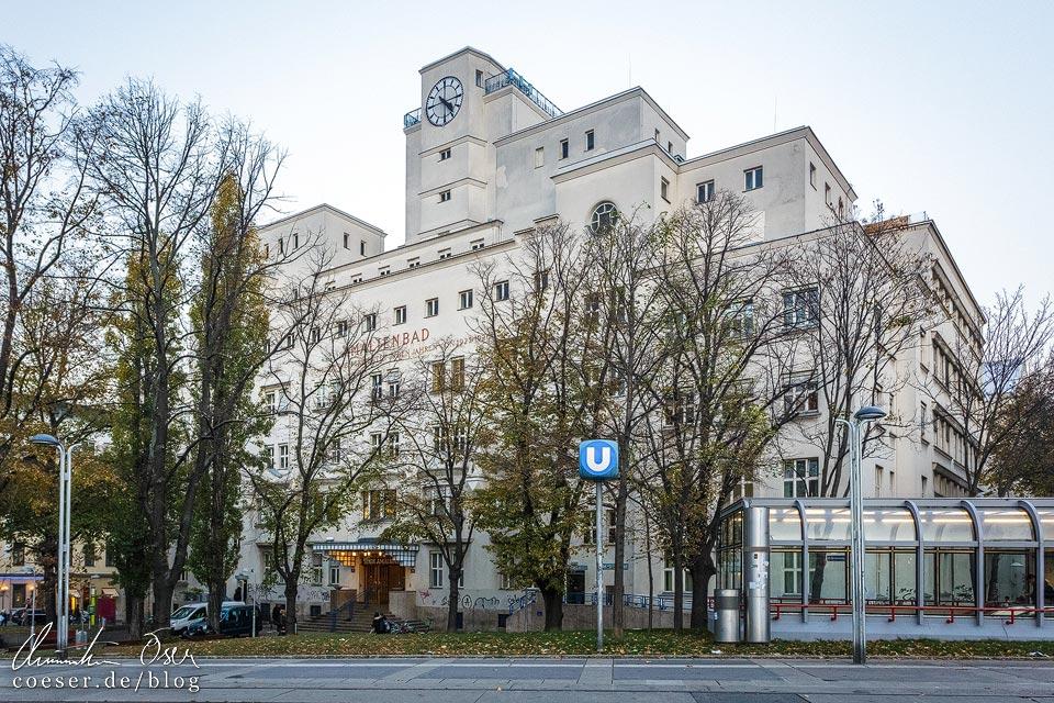 Außenansicht des Amalienbads in Wien