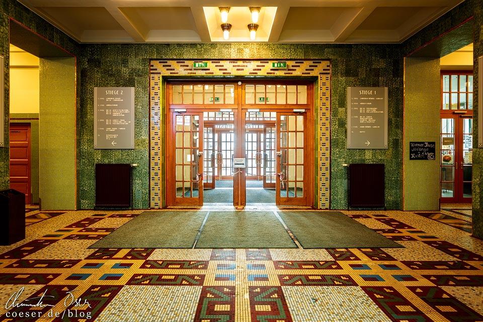 Foyer des Amalienbads in Wien