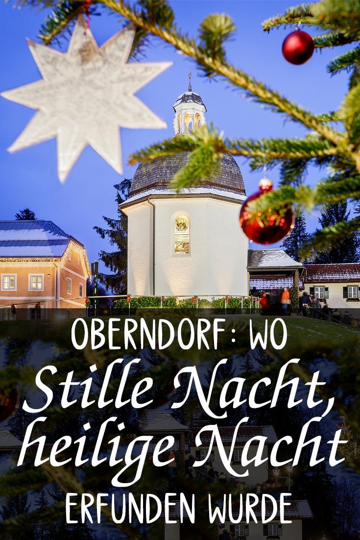 Stille-Nacht-Kapelle in Oberndorf bei Salzburg: Erfahrungsbericht mit Fotos zum Weihnachtsmarkt, dem Stille-Nacht-Museum und dem Sonderpostamt.