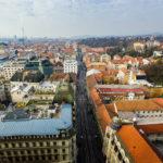 Blick Richtung Westen vom Hochhaus Zagreb 360°