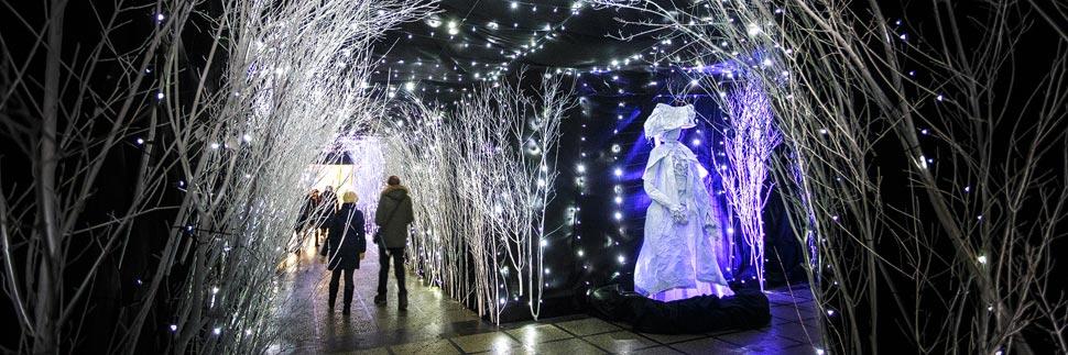 Weihnachtsbeleuchtung in der Marić-Passage in Zagreb