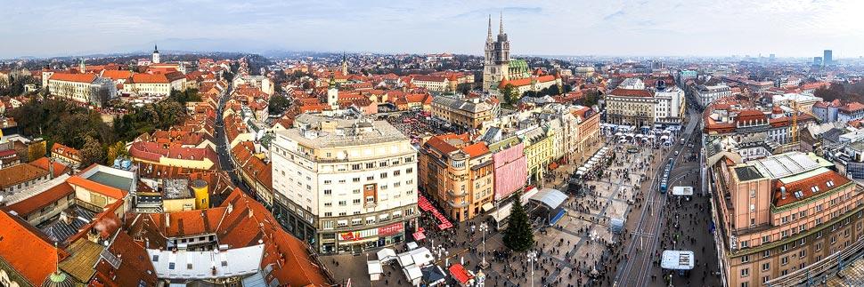 Aussicht vom Hochhaus Zagreb 360°