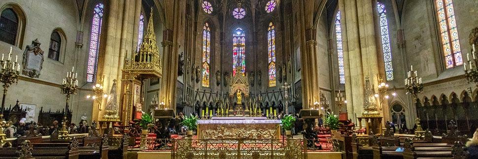 Innenansicht der Kathedrale von Zagreb