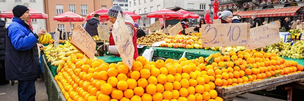 Der Dolac-Markt in Zagreb