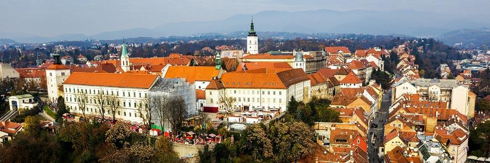 Blick auf die Oberstadt (Gornji Grad) von Zagreb