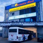 Station des Airport Bus auf dem Autobusbahnhof in Zagreb (Autobusni kolodvor Zagreb)