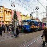 Straßenbahn auf dem Ban-Jelačić-Platz in Zagreb
