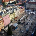 Blick vom Hochhaus Zagreb 360° auf den Ban-Jelačić-Platz
