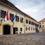 Außenansicht des Banuspalais in Zagreb