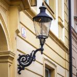 Eine Gaslaterne in der Oberstadt von Zagreb
