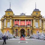 Außenansicht des kroatischen Nationaltheaters in Zagreb