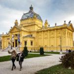 Außenansicht des Kunstpavillons in Zagreb