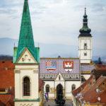 Die St.-Markus-Kirche vom Lotrščak-Turm aus fotografiert