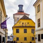 Außenansicht des Lotrščak-Turms in Zagreb
