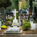 Grabmäler auf dem Mirogoj-Friedhof in Zagreb