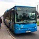 Ein öffentlicher Autobus in Zagreb