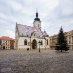 Außenansicht der St.-Markus-Kirche in Zagreb