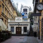 Talstation der Standseilbahn (Uspinjača) in Zagreb