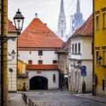 Das Steintor und die Kathedrale von Zagreb