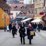 Die Fortgehmeile Tkalčićeva (Tkalča) in Zagreb