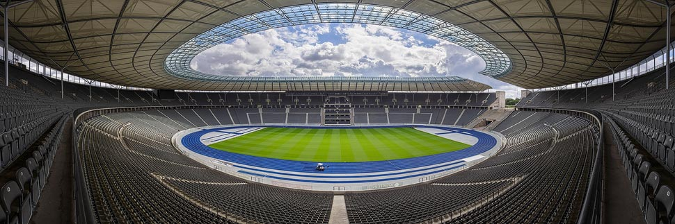 Panorama des Olympiastadions in Berlin