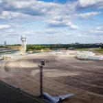 Flugfeld am Flughafen Tempelhof in Berlin